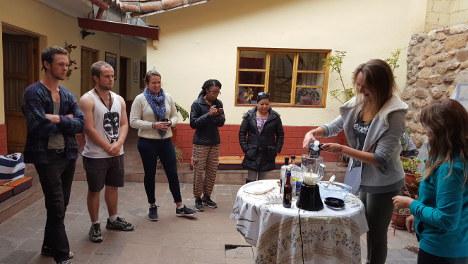 Wiracocha Spanish School cooking
